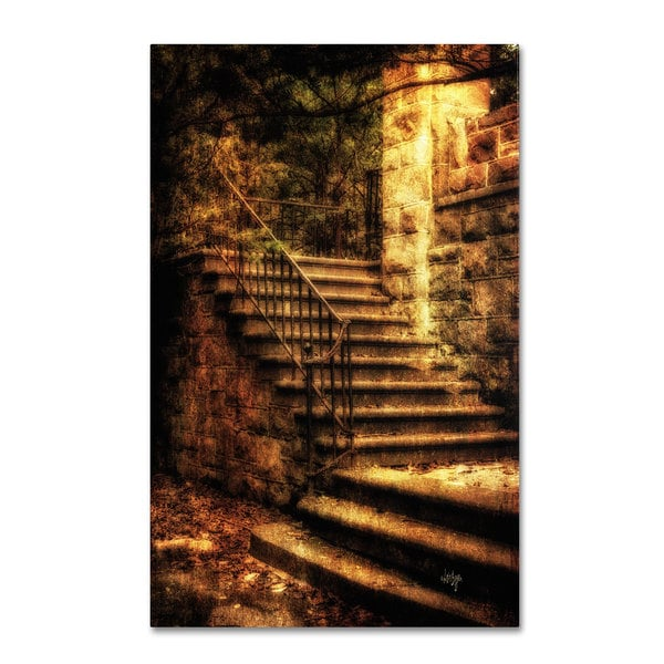 Lois Bryan 'Abandoned Stone Staircase' Canvas Art