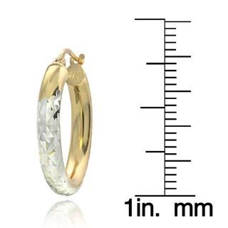 Mondevio Sterling Silver High Polish Diamond Cut 20 mm Hoop Earrings (3mm)