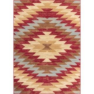 Well Woven Malibu Southwestern Kilim Red Multi Area Rug - 8'2 x 9'10