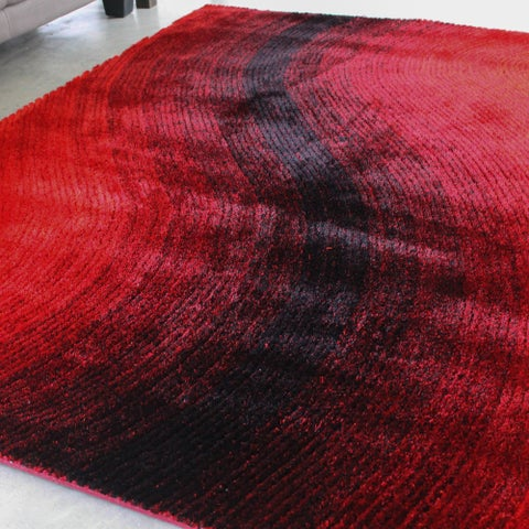 Blazing Needles 5-foot by 7-foot Vibrating Light Gradated Shag Rug