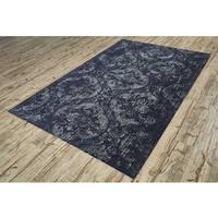 Grand Bazaar Power-Loomed Art Silk Chantal Rug in Ash (9'2 x 12'2)