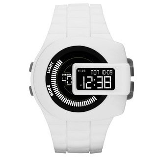 Diesel Men's DZ7275 'Vie Finder' Digital White Rubber Watch