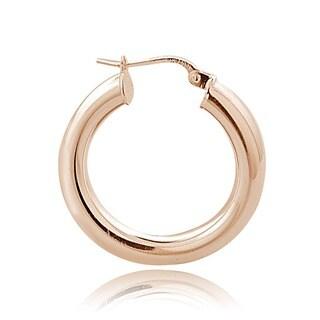 Mondevio Sterling Silver Round Hoop Earrings