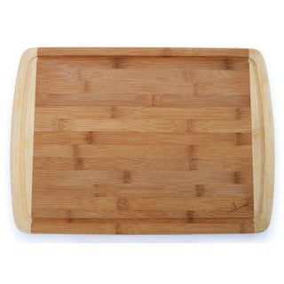 Culina Large Two-toned Carved Drain 1-inch Bamboo Cutting Board