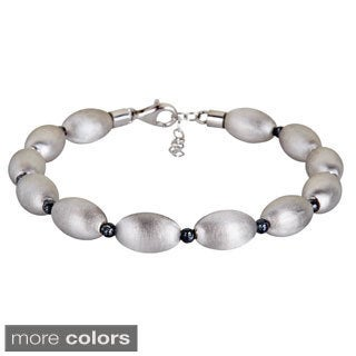 Decadence Sterling Silver Italian Beaded Bracelet.