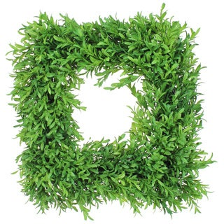 14-Boxwood Square Wreath (Set of 2)