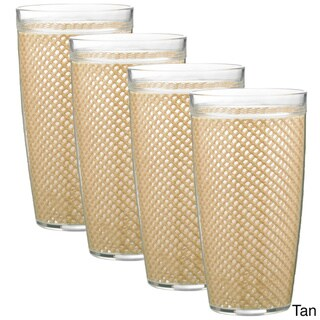 22-ounce Fishnet Double Wall Drinkware (Set of 4)