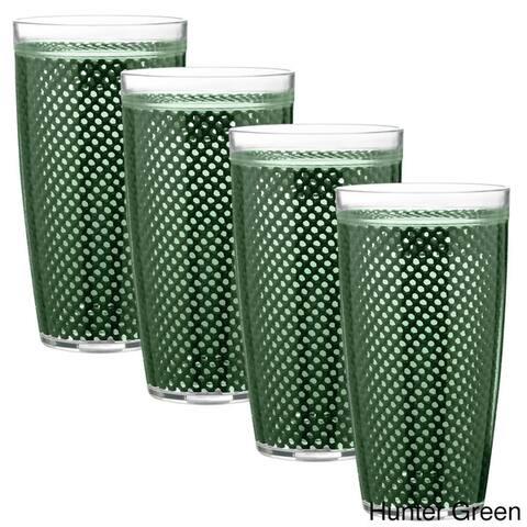 Kraftware 22-ounce Fishnet Double Wall Drinkware (Set of 4)