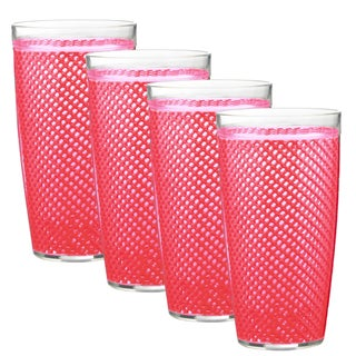 Kraftware 22-ounce Fishnet Double Wall Drinkware (Set of 4)