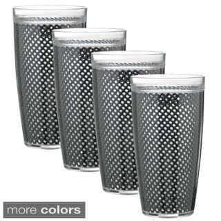 22-ounce Fishnet Double Wall Drinkware (Set of 4)|https://ak1.ostkcdn.com/images/products/9809453/P16975753.jpg?impolicy=medium