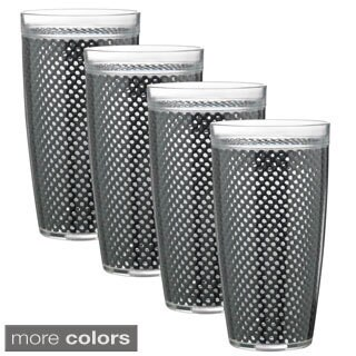 Kraftware 22-ounce Fishnet Double Wall Drinkware (Set of 4) (More options available)
