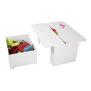 South Shore Storit Kids Activity Table with Toy Box on Wheels