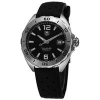 Tag Heuer Men's WAZ2113.FT8023 'Formula 1' Black Dial Black Rubber Strap Automatic Watch