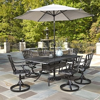 Largo 7-piece Dining Set with Umbrella by Home Styles