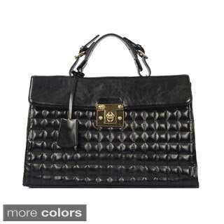 Via 'Bethany' Quilted Print Satchel Bag