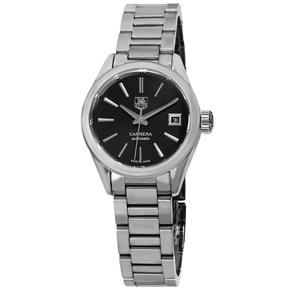 Tag Heuer Women's 'Carrera' Black Dial Stainless Steel Automatic Watch