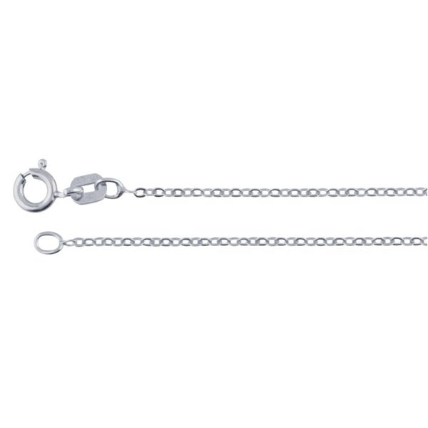 Sterling Silver Medium Satin Number 65 on a Sterling Silver Cable Snake or Ball Chain Necklace