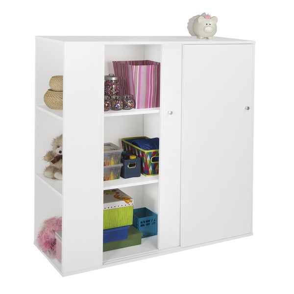 storage cabinets with furniture doors south shore storit pure white sliding door kids storage cabinet