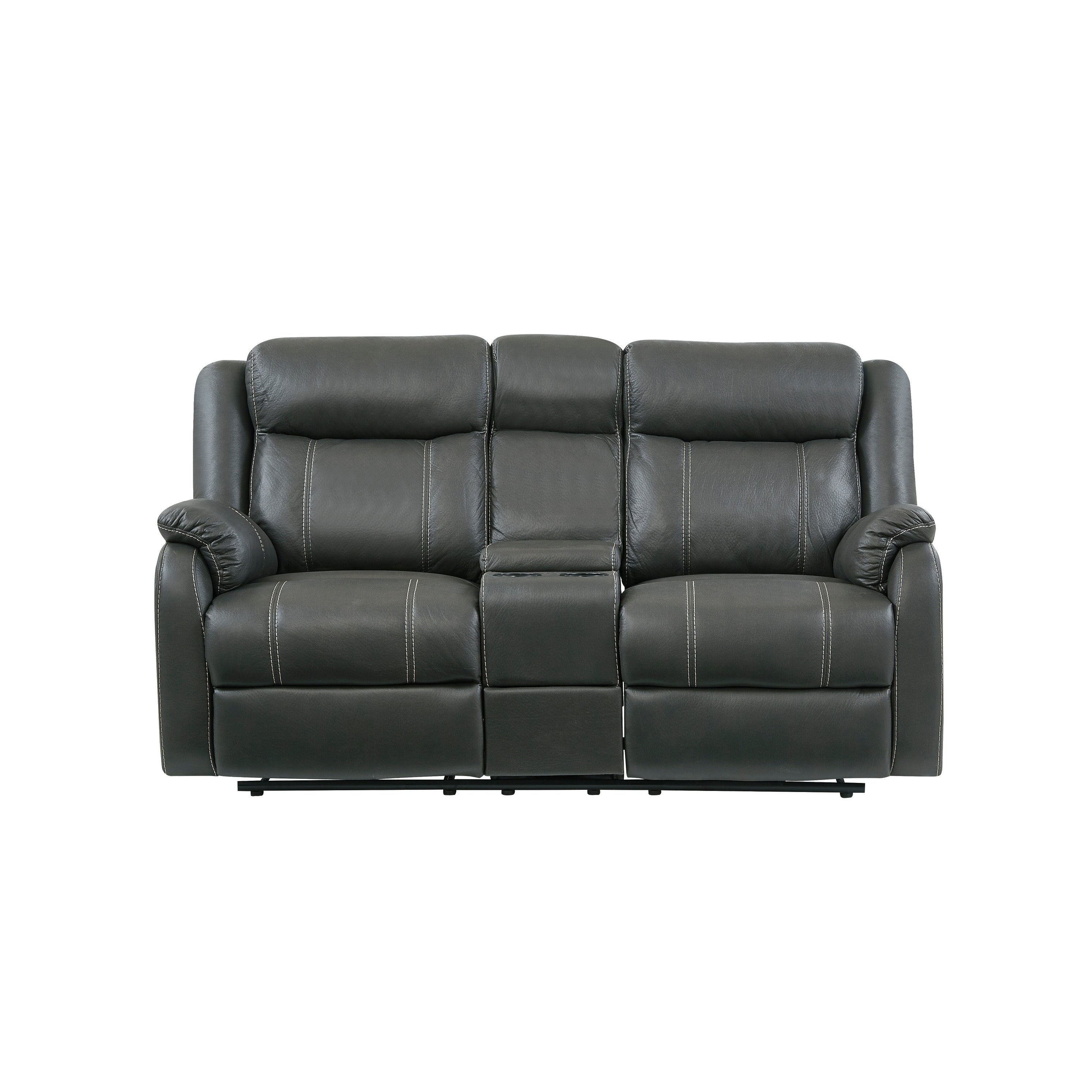 Global Console Reclining Loveseat- Gin Rummy Seal (Consol...