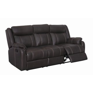 Reclining Sofa with Drop Down Table and Drawer