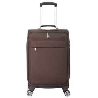 BMW 20-inch Brown Carry On Spinner Upright Suitcase