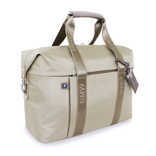 b12e4e2afed2 Shop BMW 18-inch Champagne Carry-All Carry On Duffel Bag - Free Shipping  Today - Overstock - 9809848