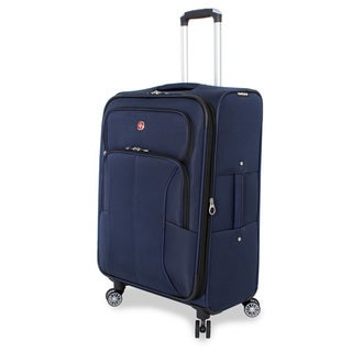 SwissGear Deluxe Blue 24-inch Medium Upright Spinner Suitcase