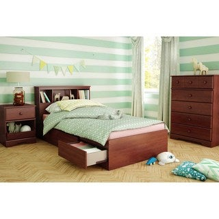 South Shore 'Little Treasures' Royal Cherry Twin Bookcase Headboard (39 inches)