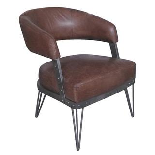 Aurelle Home Colide Brown Club Chair