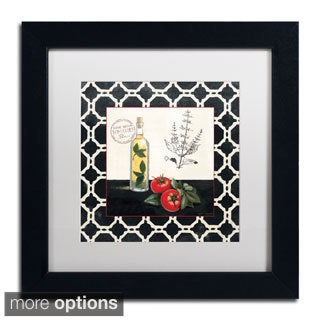Marco Fabiano 'Basil and Tomatoes' Framed Matted Art