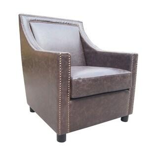 Aurelle Home London Brown Club Chair