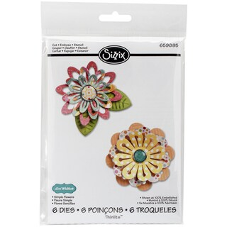 Sizzix Thinlits Dies 6/Pkg-Simple Flowers