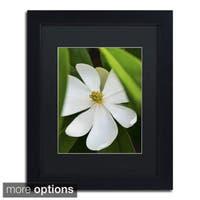 Kurt Shaffer 'White Magnolia Flower' Framed Matted Art
