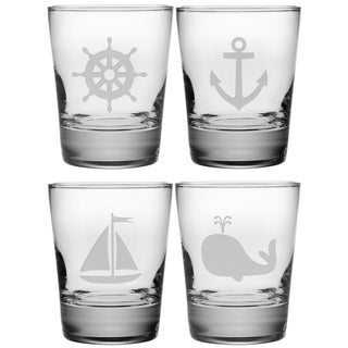 Nautical Icons Double Old Fashioned Glasses (Set of 4)
