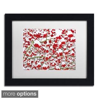 Kurt Shaffer 'Winter Berries in the Snow' Framed Matted Art