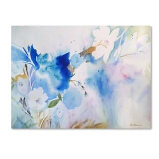 Sheila Golden 'Blue Whispers' Canvas Art