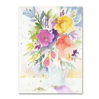 Sheila Golden 'Vase with Bright Blooms' Canvas Art