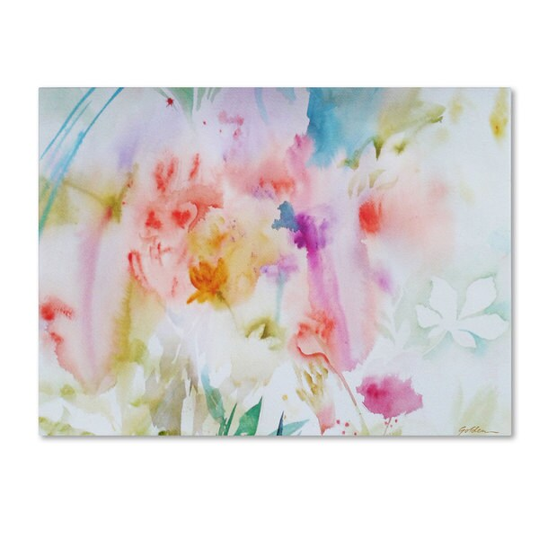 Sheila Golden X27 Flower Dreams Canvas Art