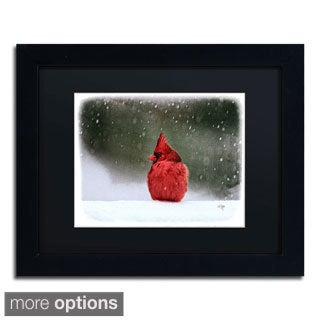 Lois Bryan 'A Ruby in the Snow' Framed Matted Art