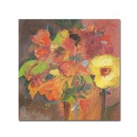 Sheila Golden 'Floral Expressions' Canvas Art - Multi