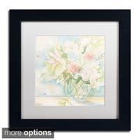 Sheila Golden 'Early June Bouquet' Framed Matted Art