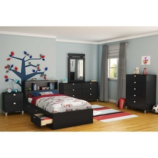 South Shore 'Spark' Black Twin Bookcase Headboard (39 inches)