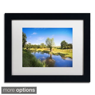 Philippe Sainte-Laudy 'Blue Brook' Framed Matted Art