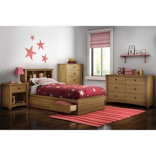 South Shore 'Jumper' Harvest Maple Twin Bookcase Headboard