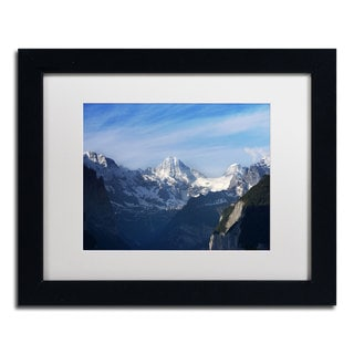 Philippe Sainte-Laudy 'Comes Over the Swiss Alps' Framed Matted Art