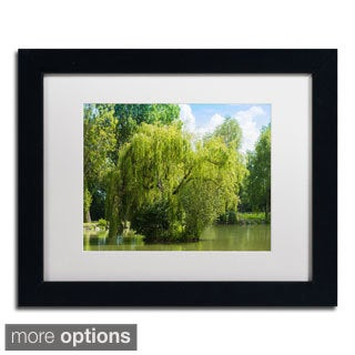 Philippe Sainte-Laudy 'Pond and Paintography' Framed Matted Art