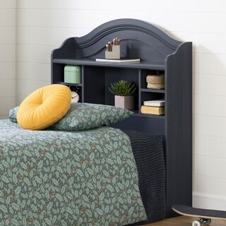 South Shore Summer Breeze Blueberry Twin Bookcase Headboard