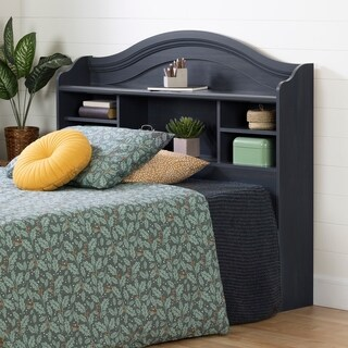 South Shore Summer Breeze Blueberry Full Bookcase Headboard