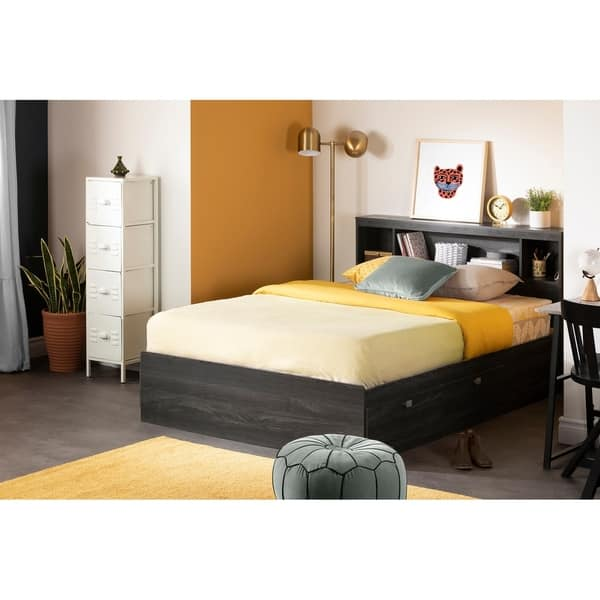 South Shore Spark Full Bookcase Headboard On Sale Overstock 9810603 Pure White