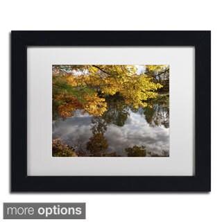 Kurt Shaffer 'Kendal Lake Autumn' Framed Matted Art